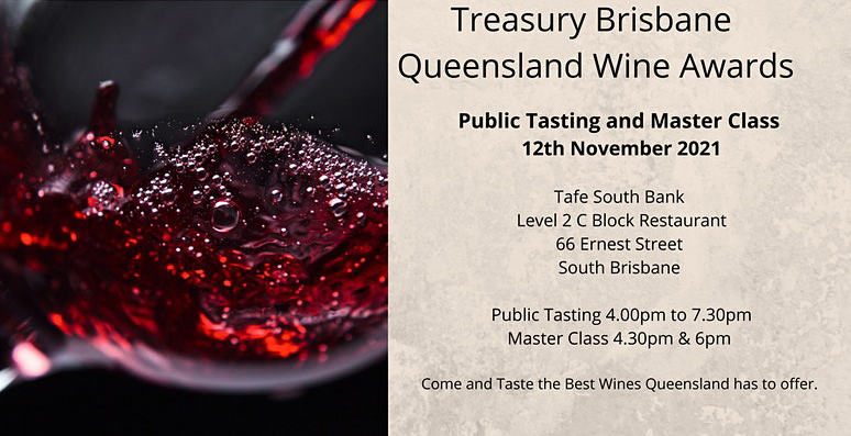 Queensland Wine Public Tasting and Master Class Information